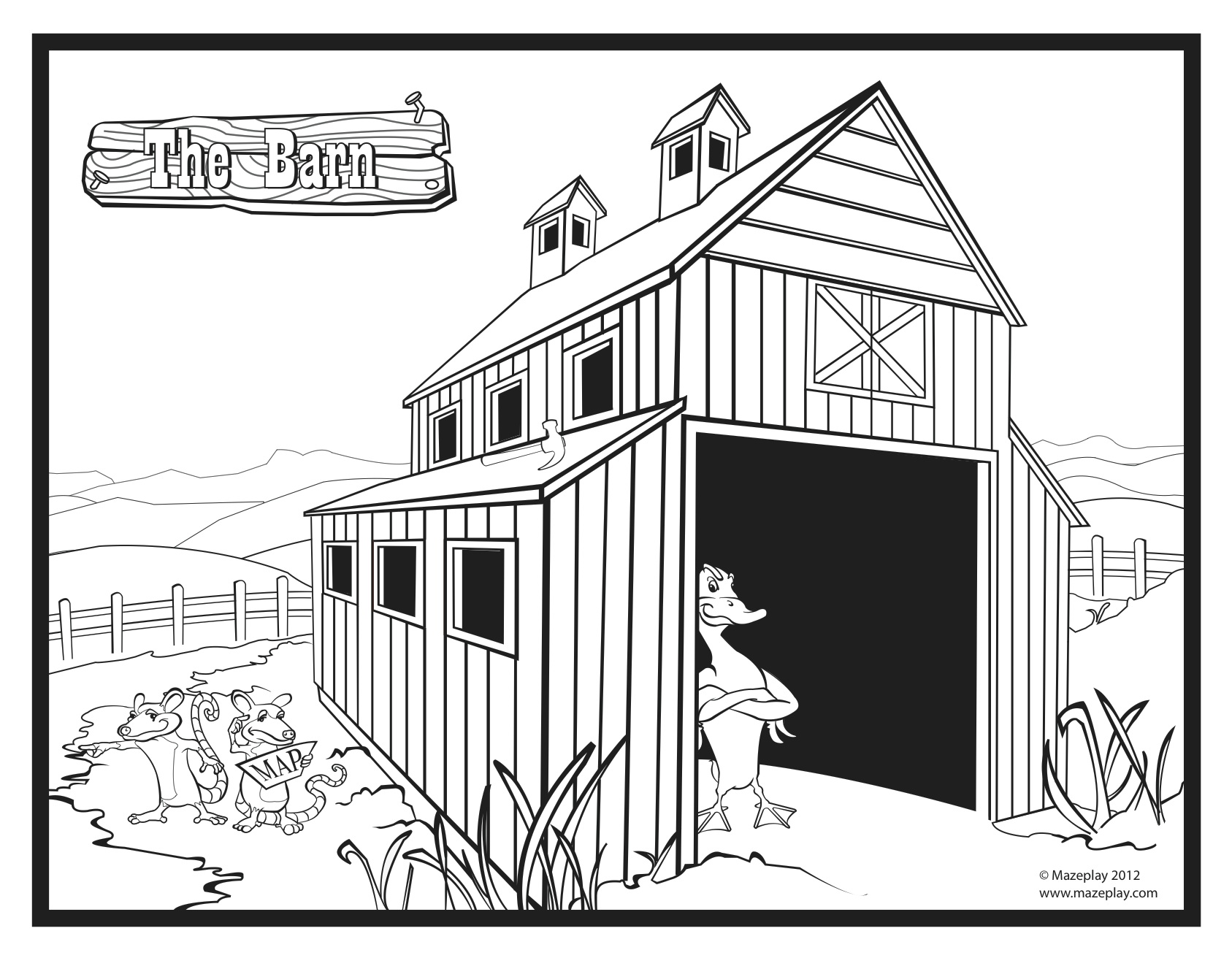 Free Coloring Pages Of Empty Farm